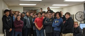 Students who participated in the career cafe in November