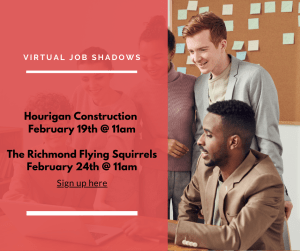 Two Virtual Job Shadow opportunities for chs students