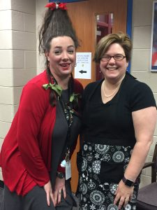 teacher and assistant principal dressed up like movie characters