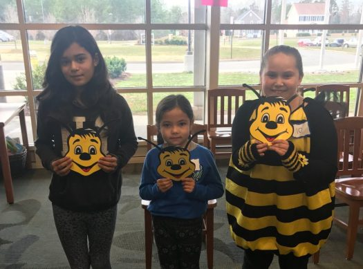 Top three Spelling bee winners at LCES
