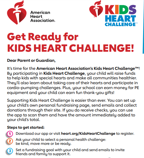 Heart Challenge flyer to raise $10,000