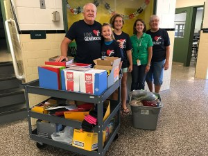 school supply donation from Christ Lutheran Church