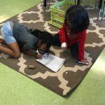 students working together on math activity