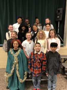 Student Actors from A Christmas Carol Production