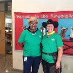 Teachers dressed as cowboys