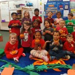 PreK Class picture with their pumpkins