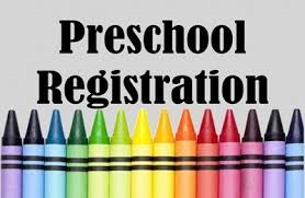 preschool registration - picture with crayons