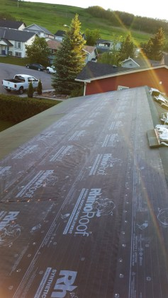 New Roof underlay installed