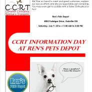 CCRT and Ren's Pet Depot Info Day – October 22, 2016 – Oakville ON