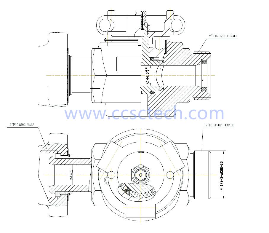 2FIG 1502FM Wellhead plug valve-2FIG 1502FM low torque