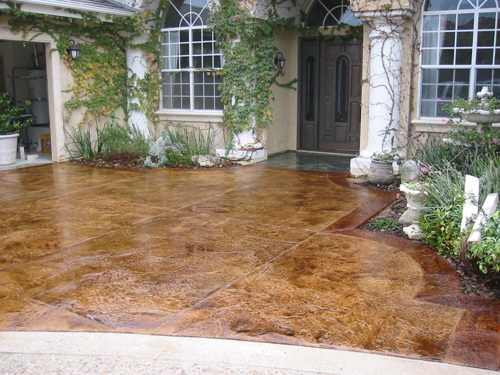 Stamped Concrete Sealing ReSealing  Color Restoration