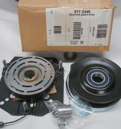 new oem warner front electric complete pto assembly w spacer p n 717 3340 use 917 3340 [ 1005 x 871 Pixel ]