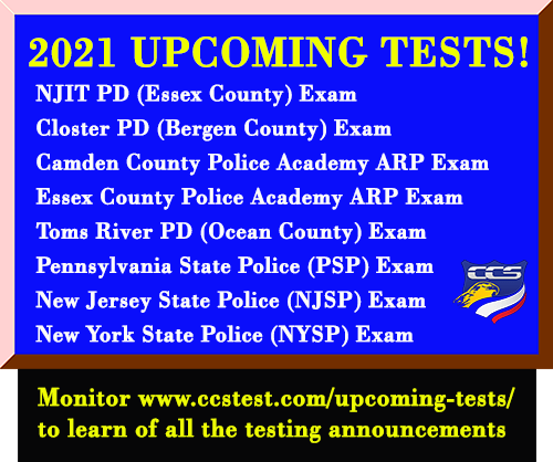 Upcoming tests in 2021