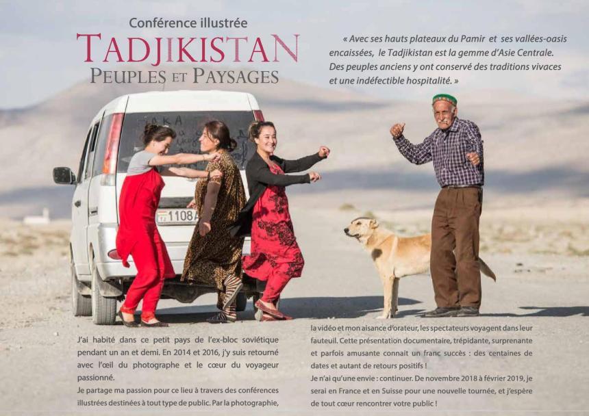 Conférence illustrée – Tadjikistan Peuples et paysages par Nicolas Pernot