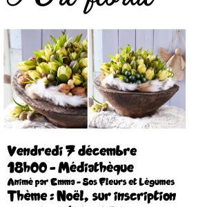 Art floral Médiathèque Précy-sous-Thil