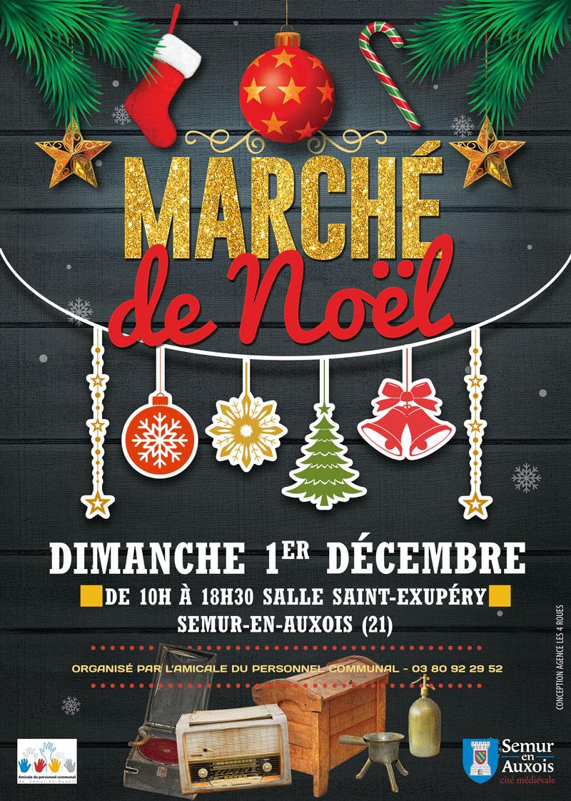 Marché de Noël de l'amicale du personnel communal de Semur en Auxois
