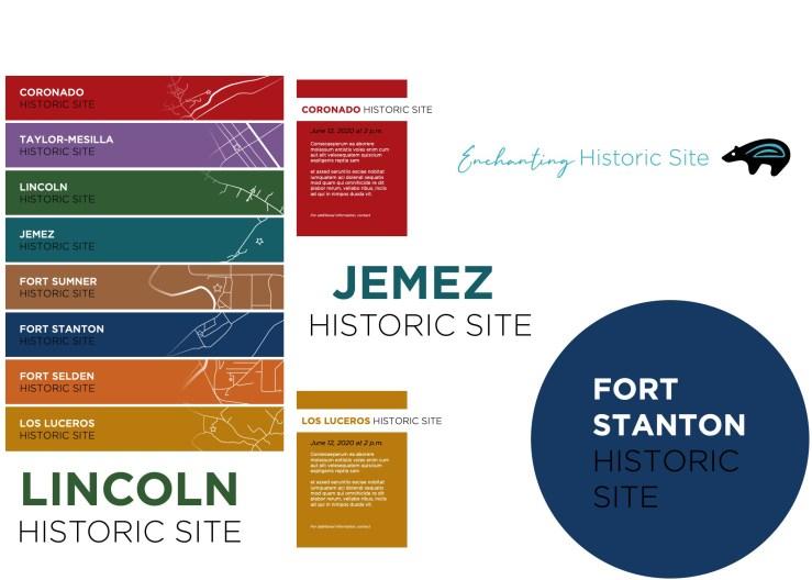 Social media branding samples for New Mexico Historic Sites
