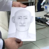 printout of 3-D reconstruction used for family members to identify