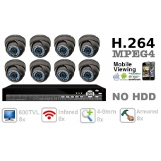 600TVL 8 ch channel CCTV Camera DVR Security System Kit