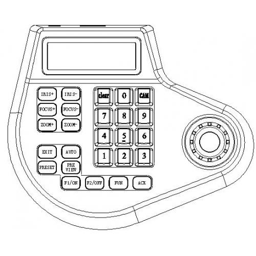 Intelligent 2D CCTV Multifunction PTZ Keybaord controller