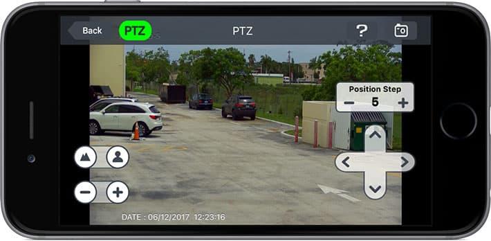 IPhone App PTZ Kamera Kontrolleri