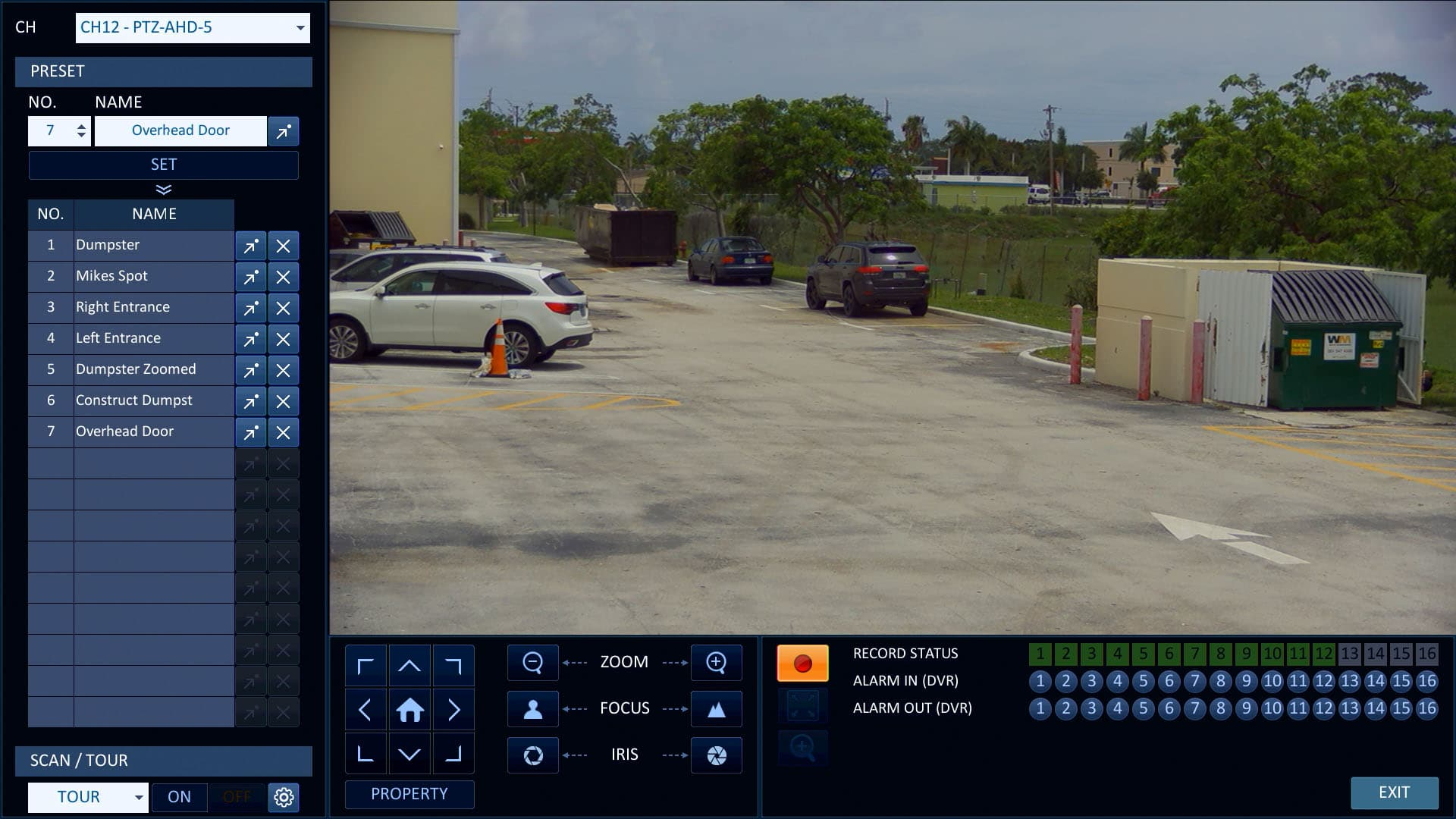 hight resolution of hd ptz controls from idvr pro surveillance dvr