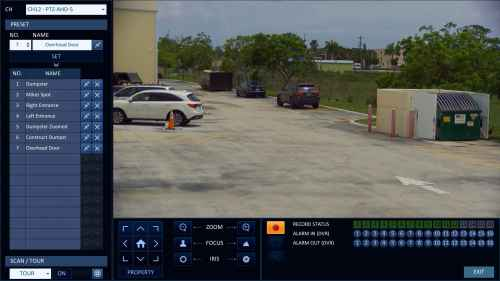 small resolution of hd ptz controls from idvr pro surveillance dvr