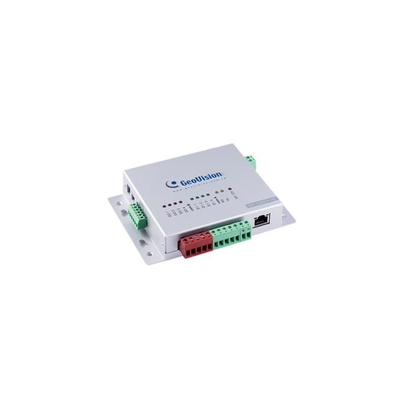Geovision GV-IO Box. Ethernet / POE. 4 Port Alarm In. 4 Port Relay Out