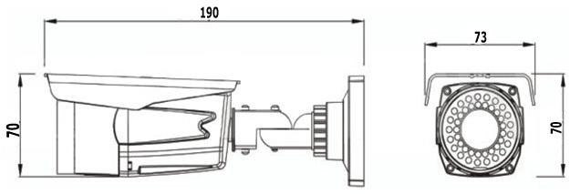 NV67WTU- Weatherproof IR Camera, 2.8-12mm varifocal lens