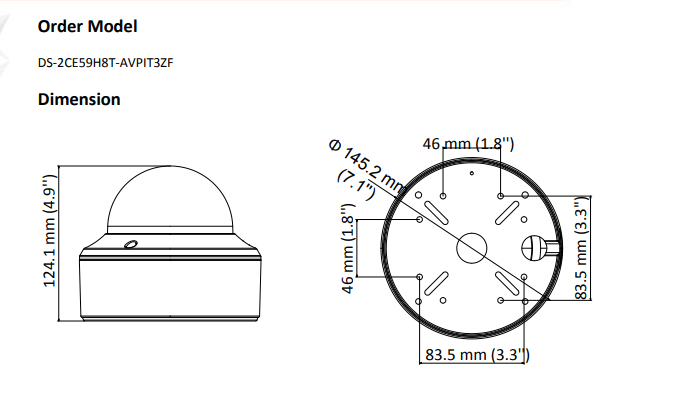 Hikvision DS-2CE59H8T-AVPIT3ZF 5MP low light Motorized