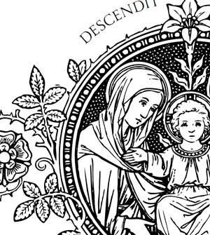 Catholic Line Art, Black and White • Installment #17