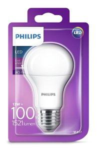 Philips Lampadina LED Goccia E27, 13 W Equivalenti a 100 W, Luce Bianca Naturale Fredda