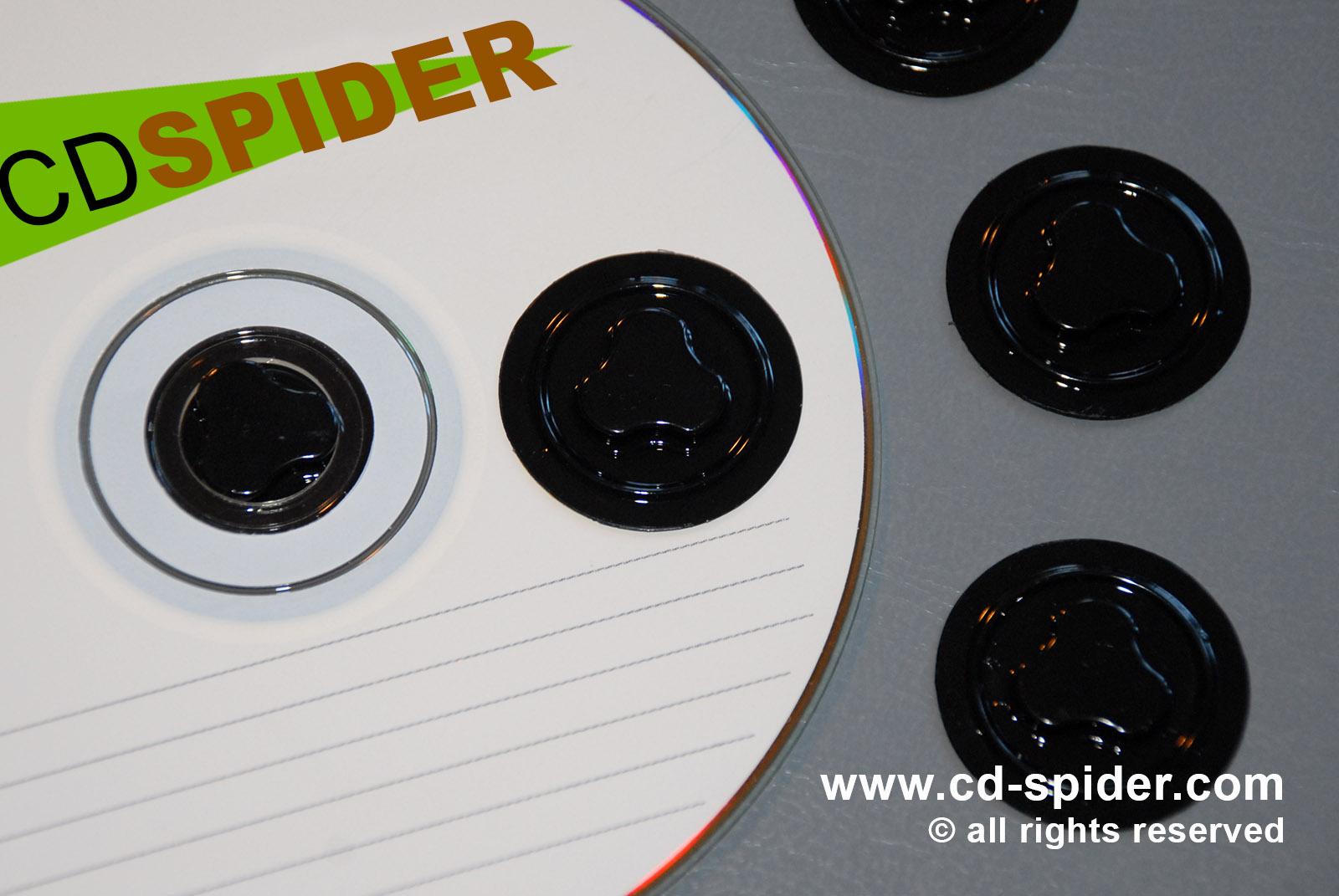 CD Spider Plastic Button Photos