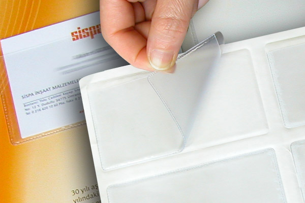 Self Adhesive Plastic Business Card Pockets