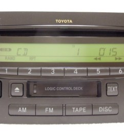 details about 03 04 toyota tundra sequoia oem jbl am fm radio stereo tape cassette cd player [ 1280 x 720 Pixel ]