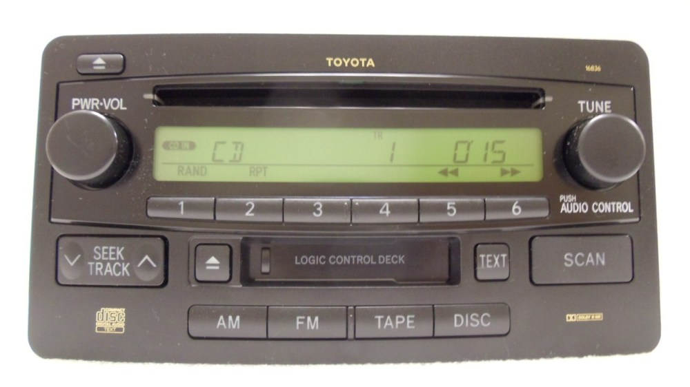 medium resolution of details about 03 04 toyota tundra sequoia oem jbl am fm radio stereo tape cassette cd player