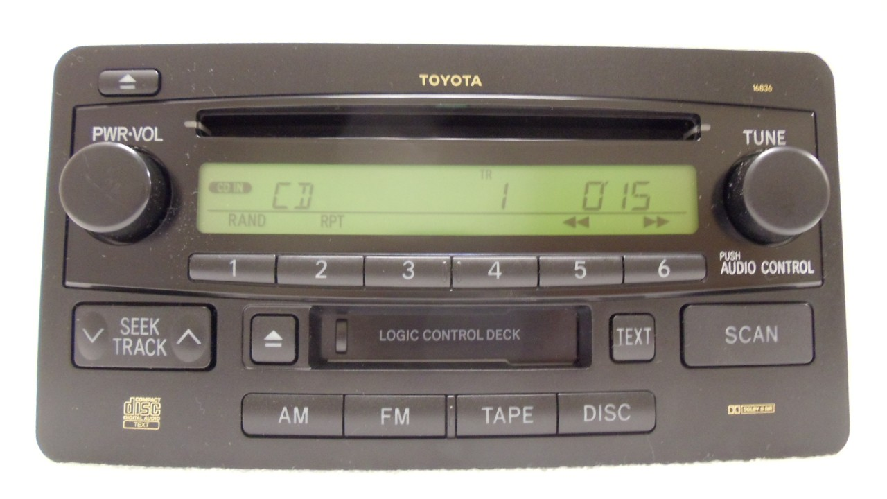 hight resolution of details about 03 04 toyota tundra sequoia oem jbl am fm radio stereo tape cassette cd player