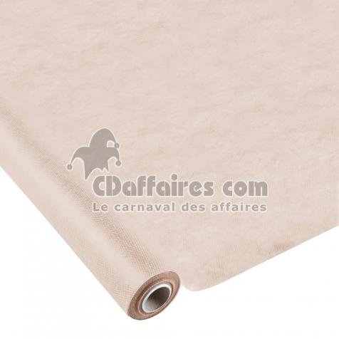 nappe effet tissu 1 20x10m 50gr m tissu tnt polypropylene 100 taupe cdaffaires