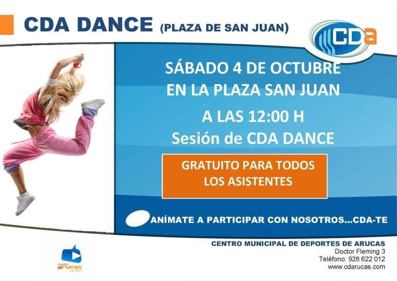 CARTEL CDA DANCE cda OCTUBRE 2014