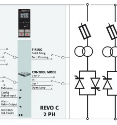scr power controller two phases schema  [ 1000 x 800 Pixel ]