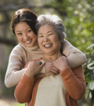Photo: mother and daughter hugging