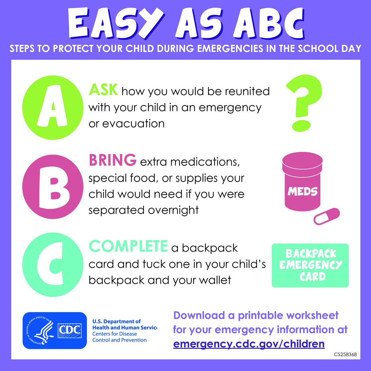Children In A Disaster Infographic Easy As Abc