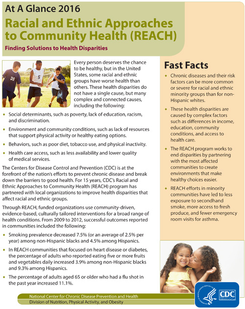 Racial And Ethnic Approaches To Community Health REACH At A