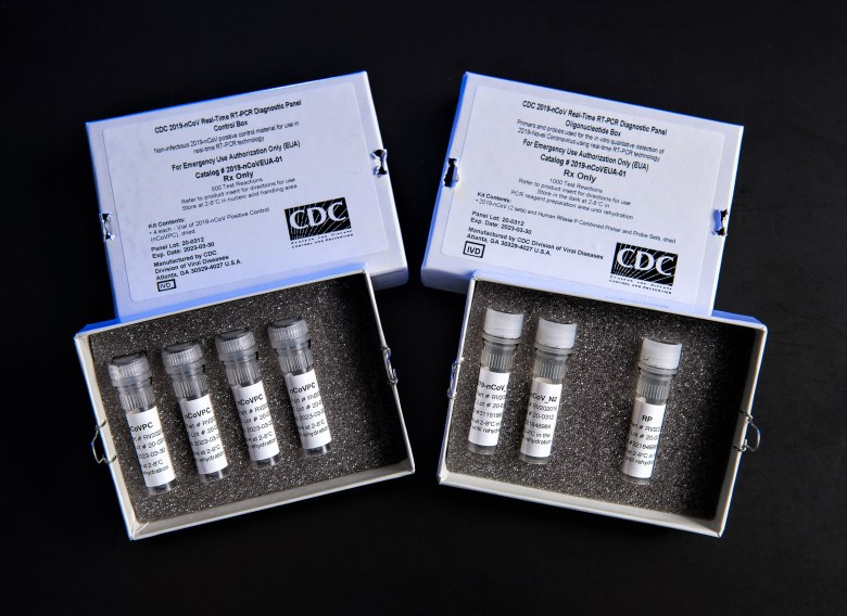 This is a picture of CDC's laboratory test kit for severe acute respiratory syndrome coronavirus 2 (SARS-CoV-2). CDC tests are provided to U.S. state and local public health laboratories, Department of Defense (DOD) laboratories and select international laboratories.