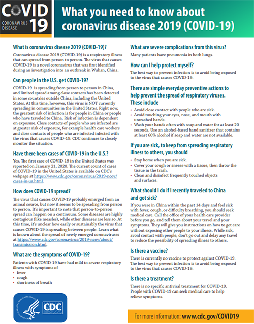 About Coronavirus Disease 2019 (COVID-19) | CDC