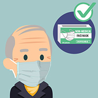 Disposable masks are widely available.