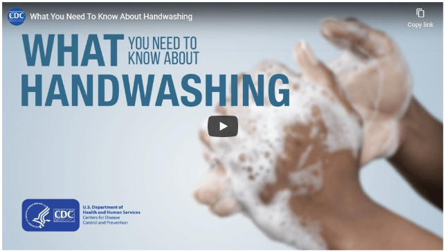 What you need to know about handwashing link with image of soapy handwashing