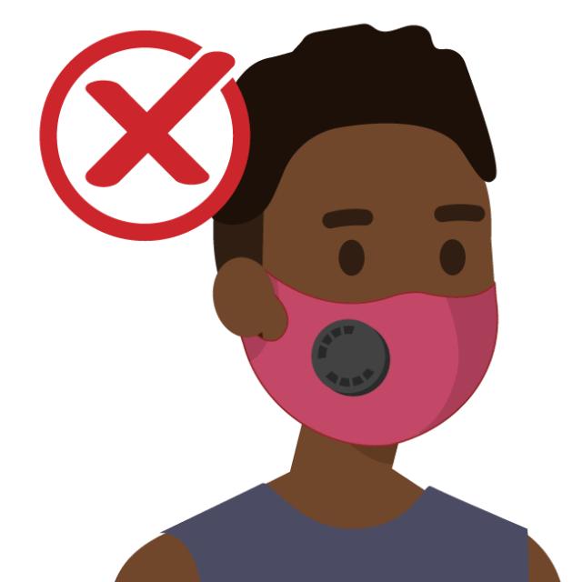 No masks with valves