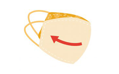 graphic of the inside of an orange mask