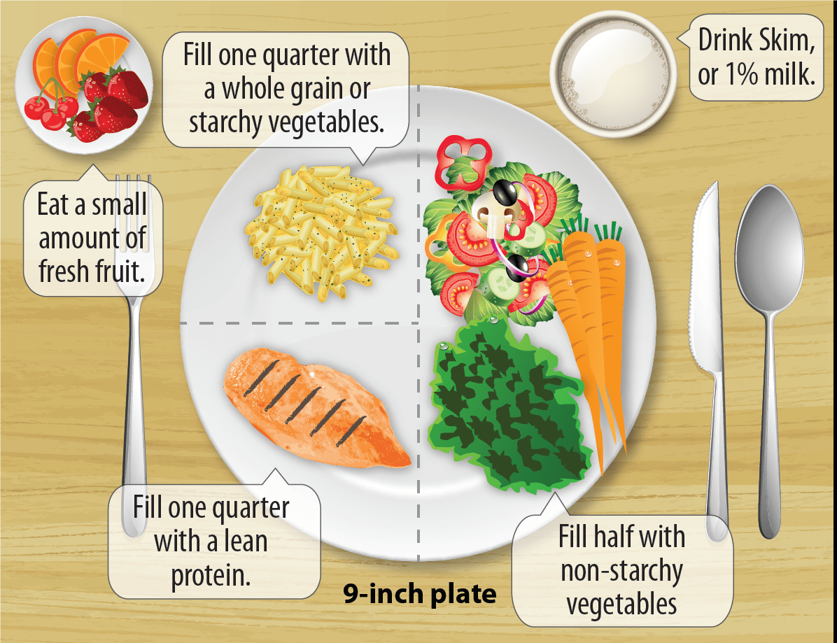 hight resolution of diabetic 9 inch food plate breakdown